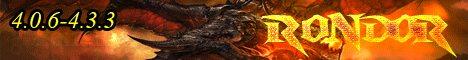 Rondor.ru - Лучший сервер Катаклизм 4.0.6-4.3.3 Banner