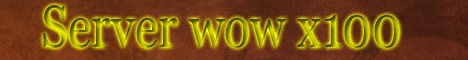 WoW server x100 Banner
