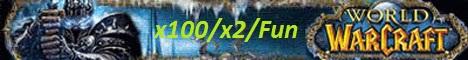 WoW Crossnet Server x100 PvP-PvE Banner