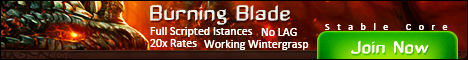 Burning Blade - 3.3.5 Private Server 20x Banner