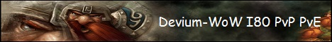 Devium-WoW I80 PvP/PvE Banner