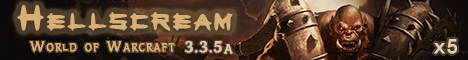 Hellscream.ORG Азиатский сервер WoW Banner
